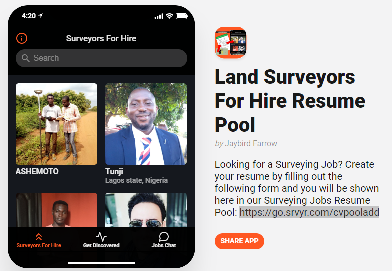 New Resume Pool Experiment and Version Two of Surveying Jobs App