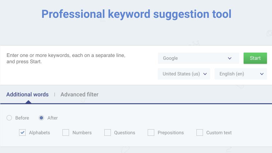 Identify the best keywords without Google Keyword Planner: KParser